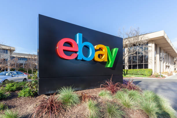 eBay 's headquarters in Silicon Valley. stock photo