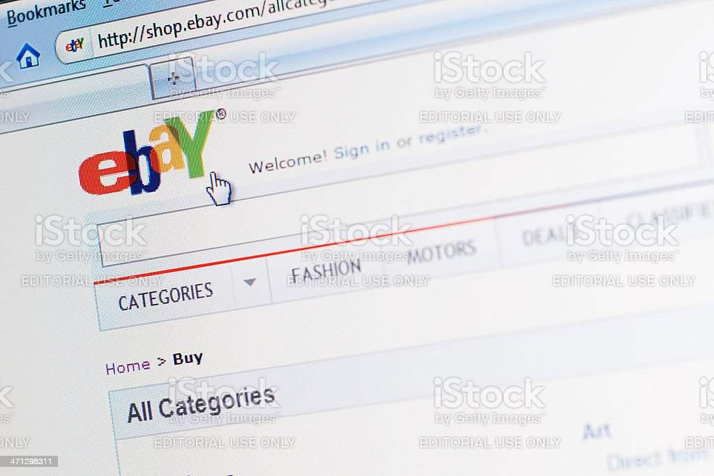 Ebay Website Main Webpage Stock Photo Download Image Now Istock