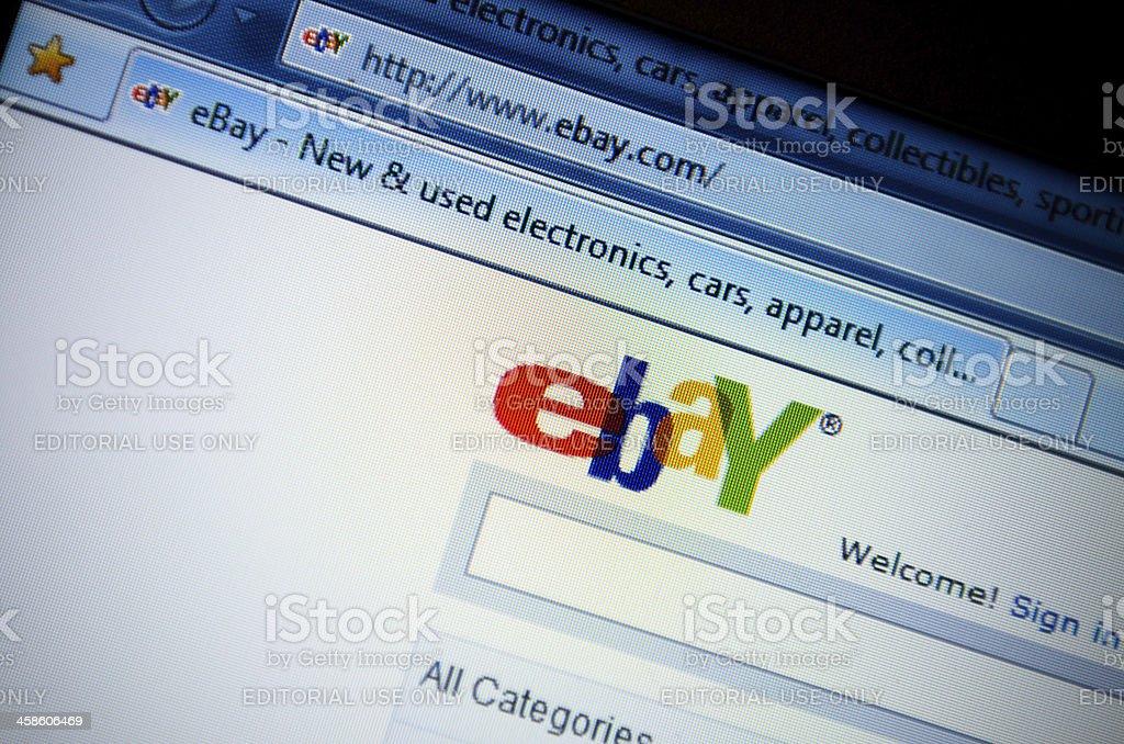 Ebay.com main page - english version site stock photo