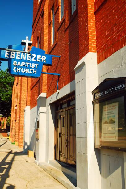 iglesia bautista ebenezer, atlanta - martin luther king jr day fotografías e imágenes de stock