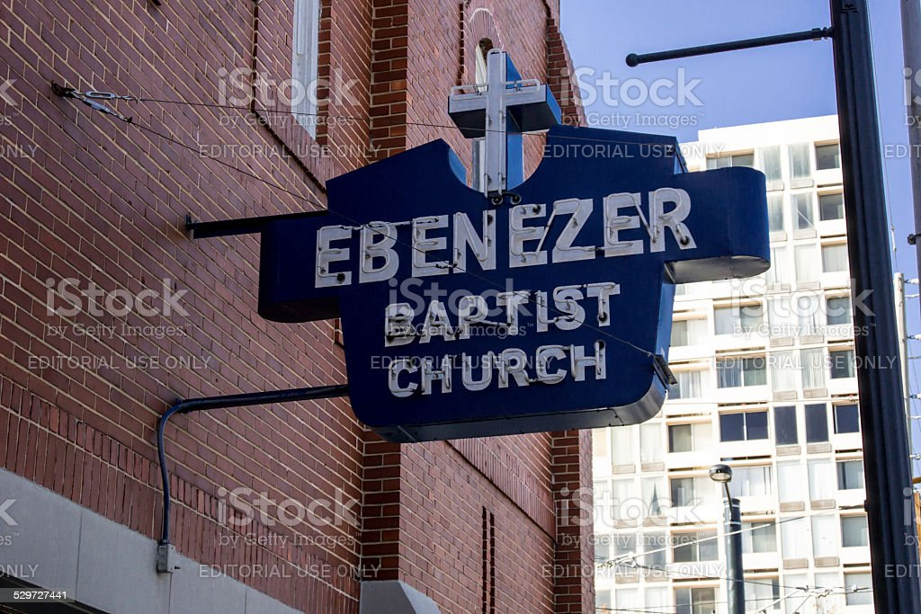 Ebenezer Baptist Church stock photo