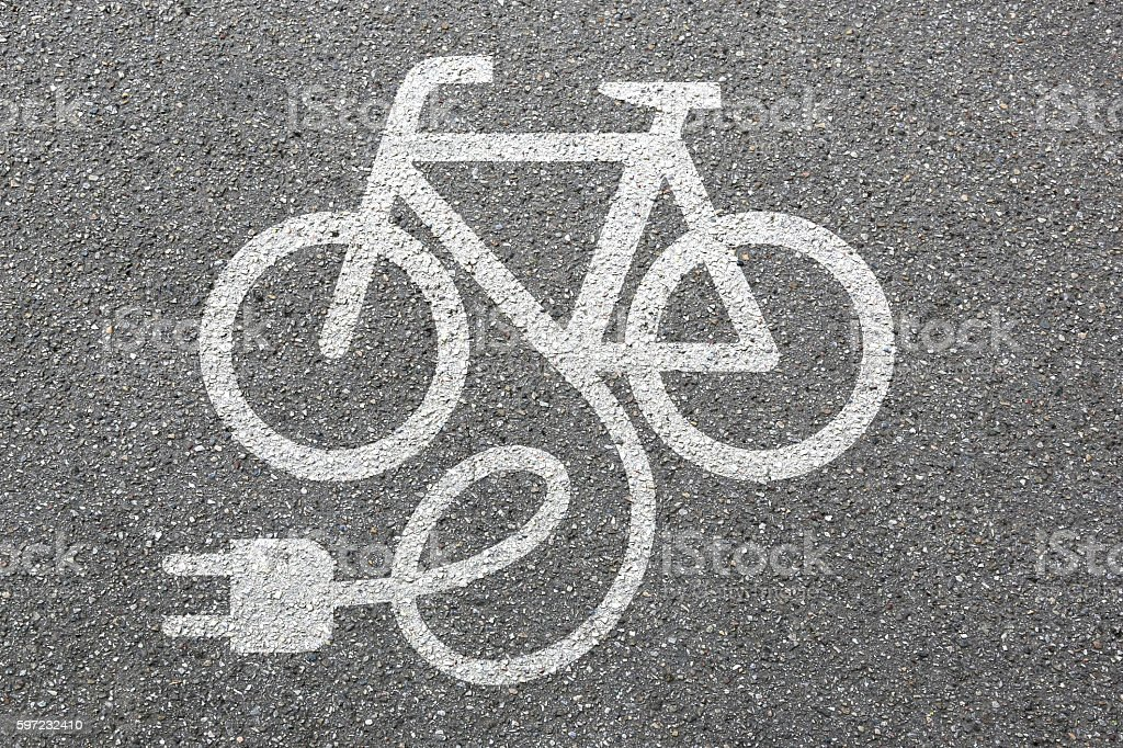 E-Bike E Bike Ebike electric bike electro bicycle eco friendly - foto de stock