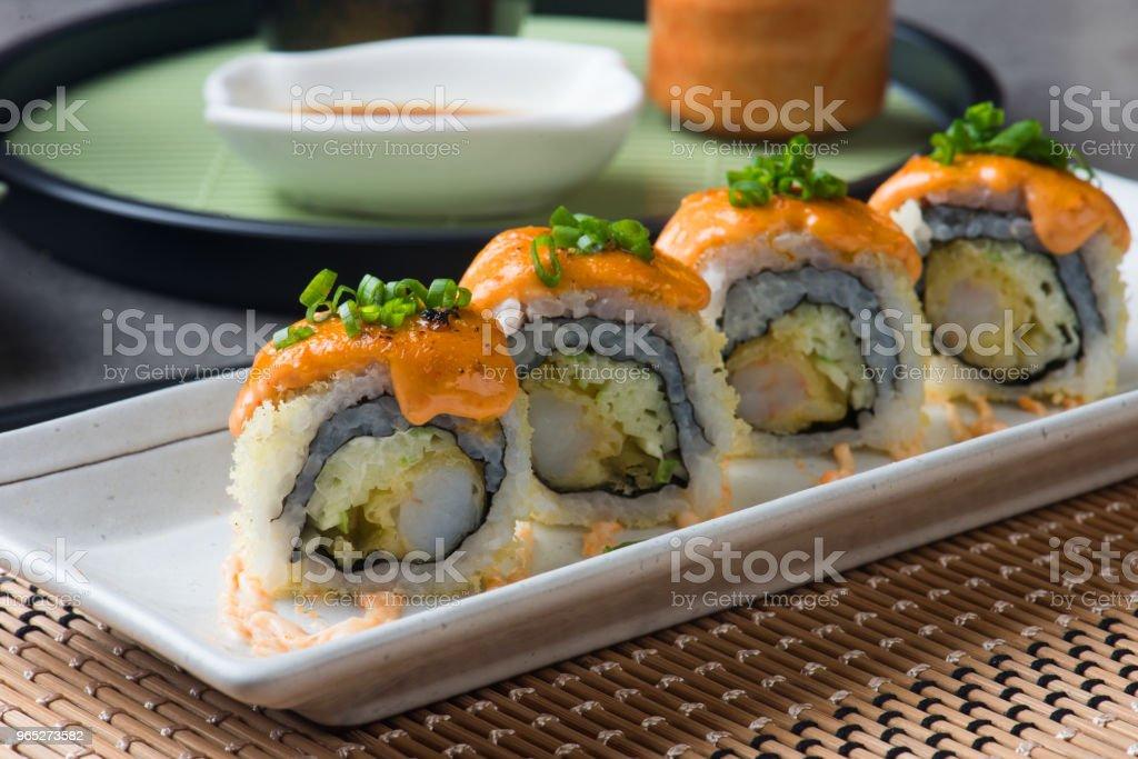 ebiten tempura prawn roll sushi zbiór zdjęć royalty-free