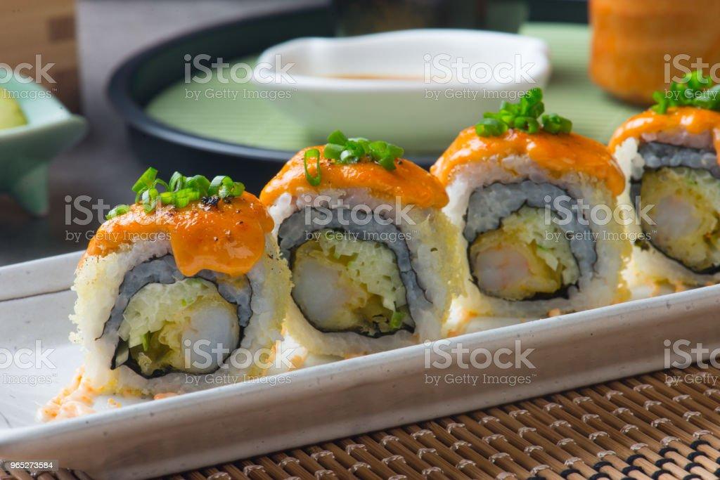 ebiten tempura prawn roll sushi royalty-free stock photo