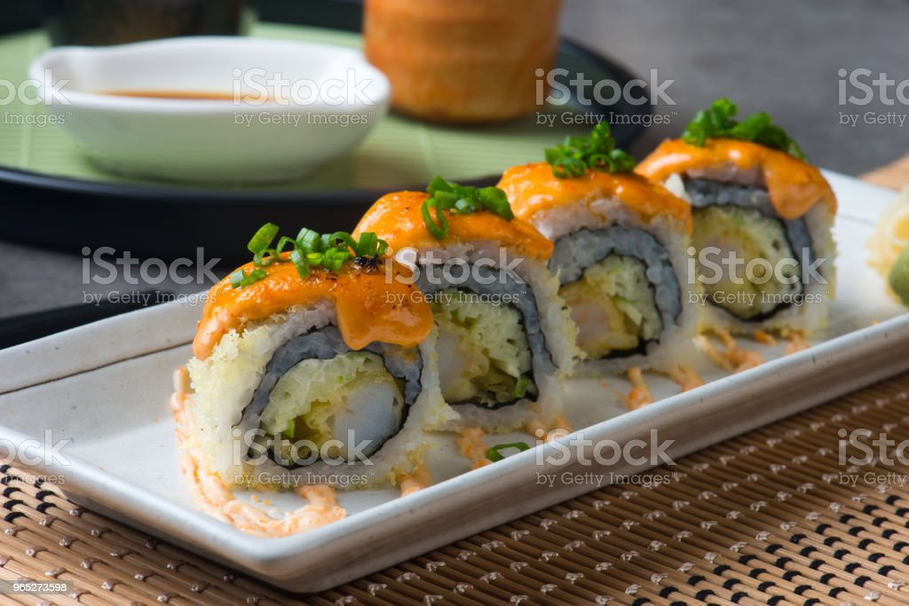 ebiten tempura prawn roll sushi royalty-free stock photo