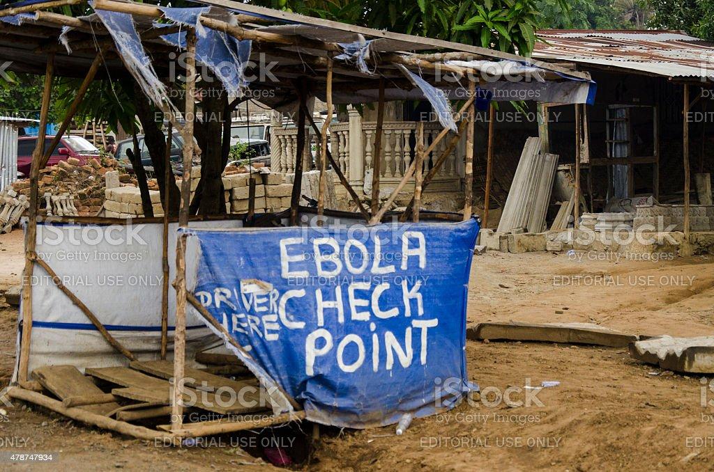 Ebola Check Point stock photo