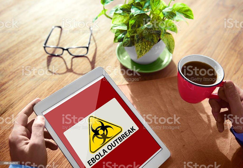 Ebola Outbreak Digital Device Internet Wireless Concept royalty-free stock photo