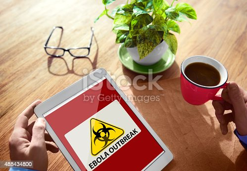 Ebola Outbreak Digital Device Internet Wireless Concept Stock Photo & More Pictures of 2015