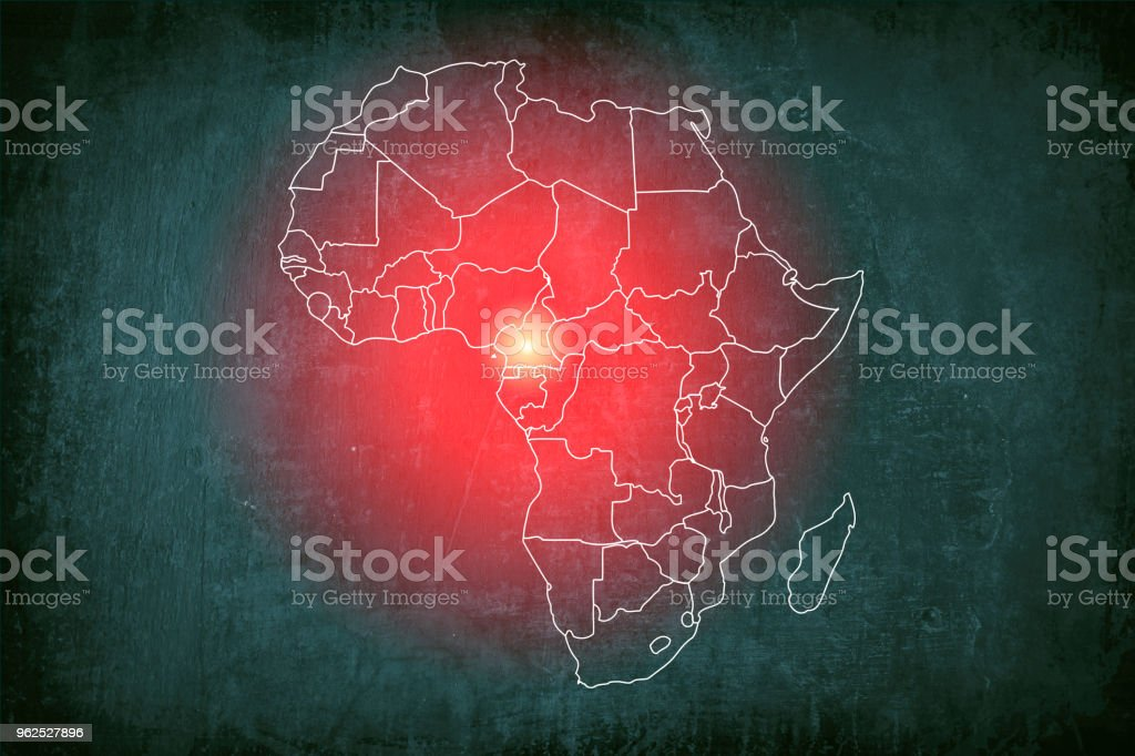 Ebola outbreak red alert - foto stock