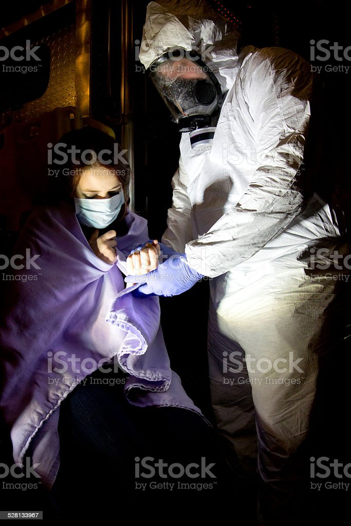 Ebola Patient stock photo
