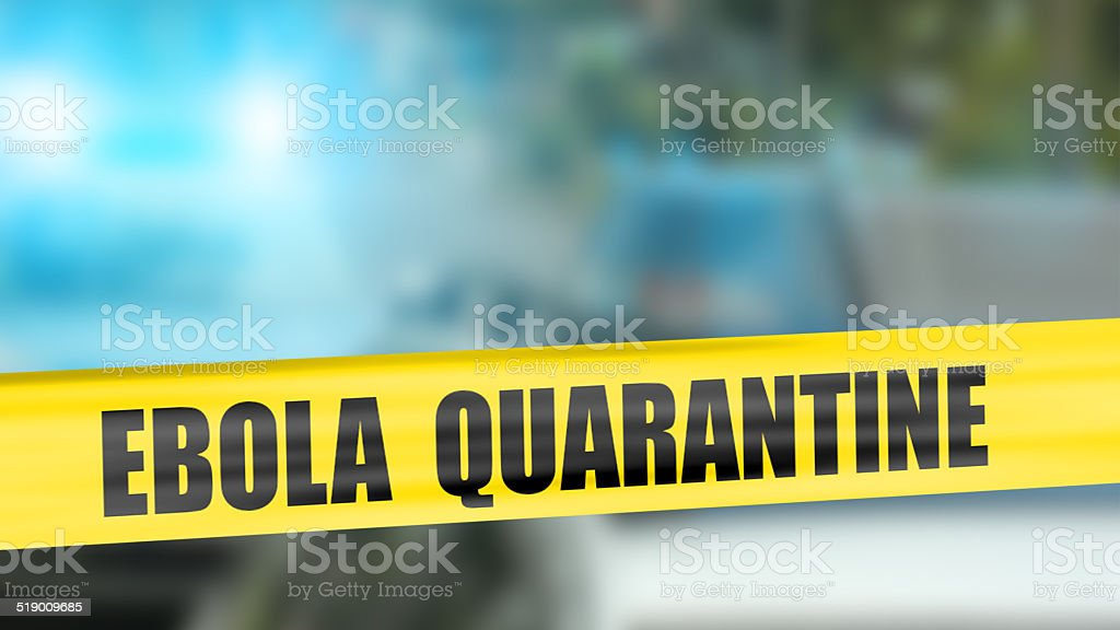 Ebola quarantine tape stock photo