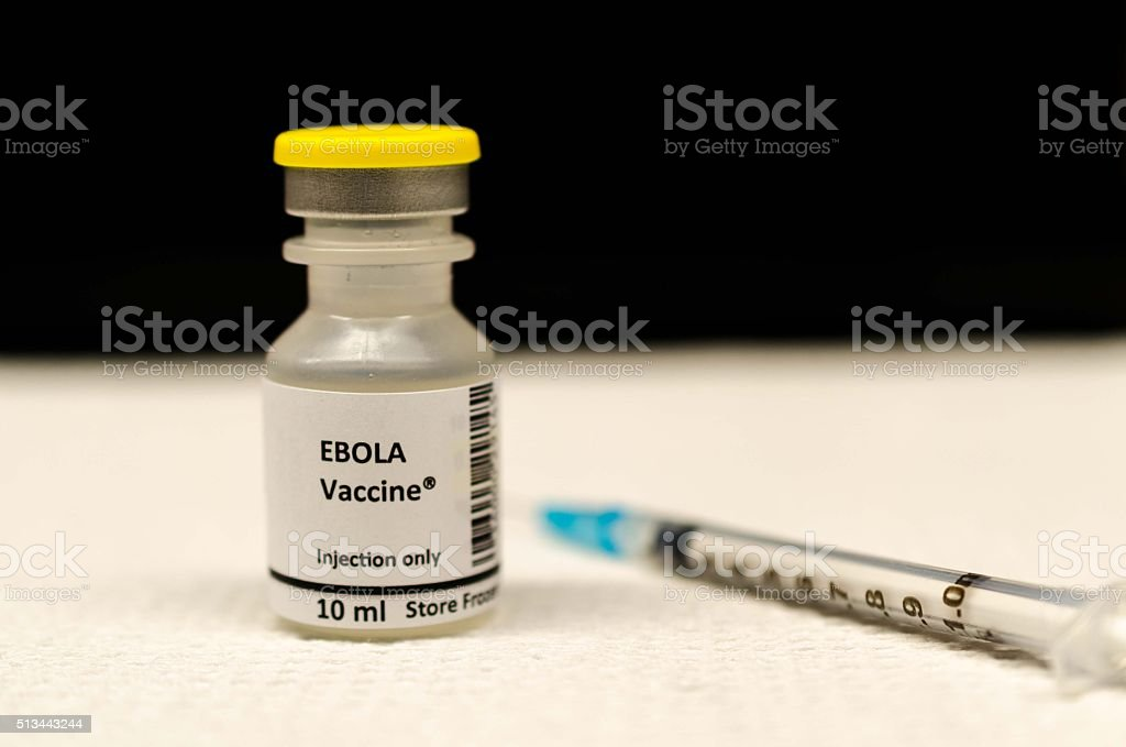 Ebola vaccine stock photo