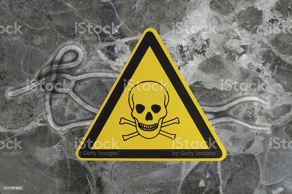 Ebola virus with death sign stock photo