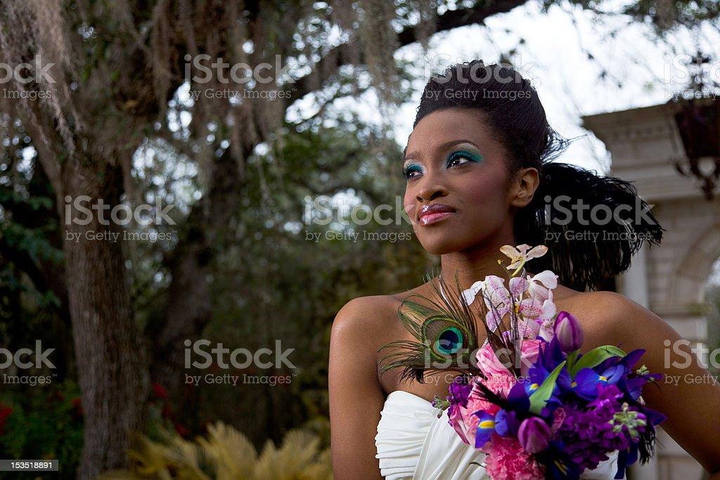 Ebony Bride stock photo