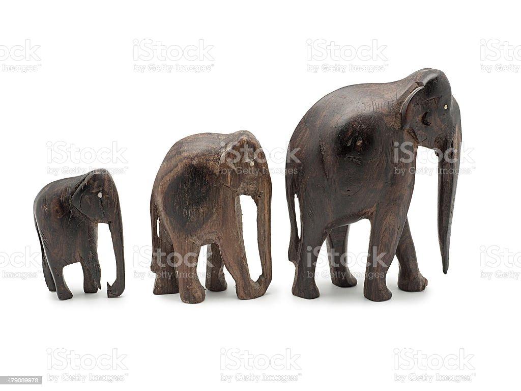 Ebony elefante isolado no fundo branco foto royalty-free