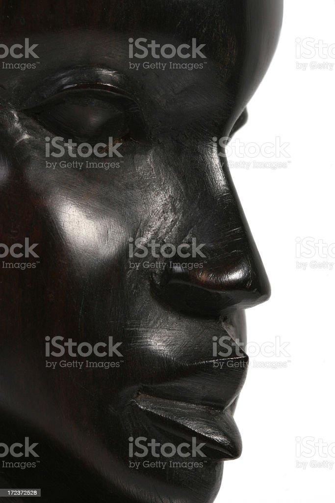Ebony profile royalty-free stock photo