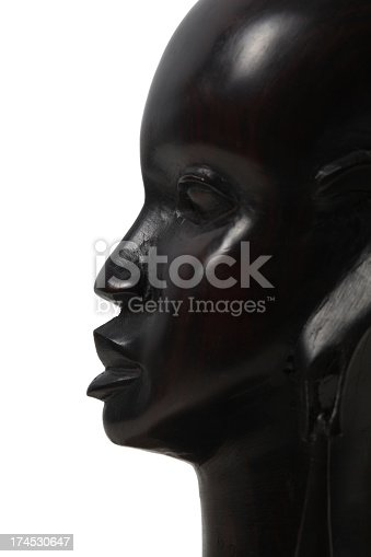 Girl Ebony profile. This is a souvenir of Kenya of ebony statue. I bought this statue in 1987 in road near Masai Mara, Kenya.