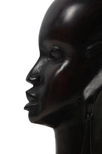 Girl Ebony profile. This is a souvenir of Kenya of ebony statue. I bought this statue in 1987 in road near Masai Mara, Kenya.