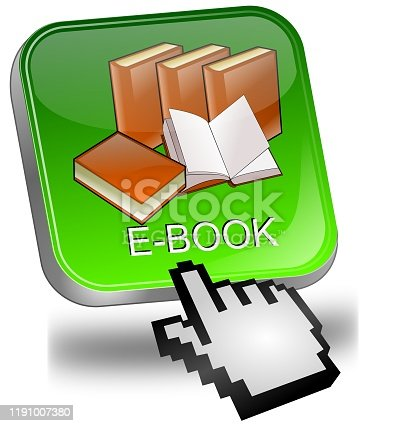 1058104820istockphoto E-Book Button with cursor - 3D illustration 1191007380