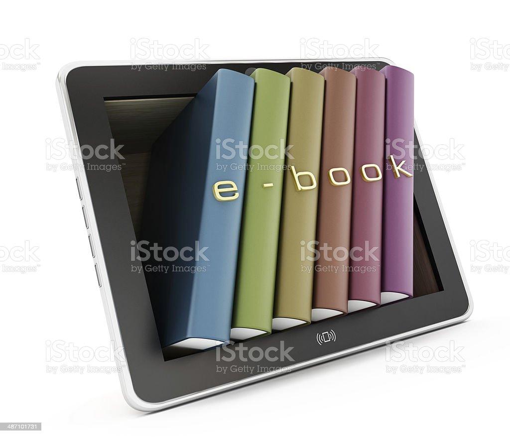 E-book concept royalty-free stock photo