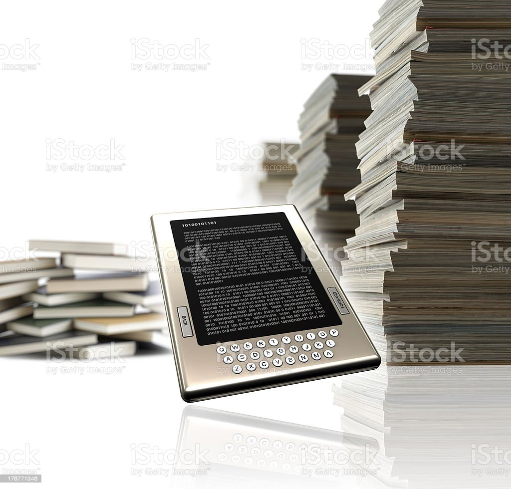 eBook - eLearning concept royalty-free stock photo