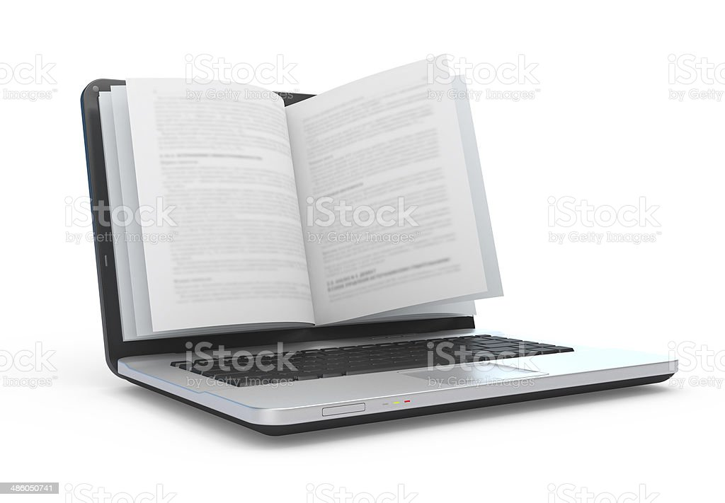 E-book.  E-reading. E-learning. stock photo