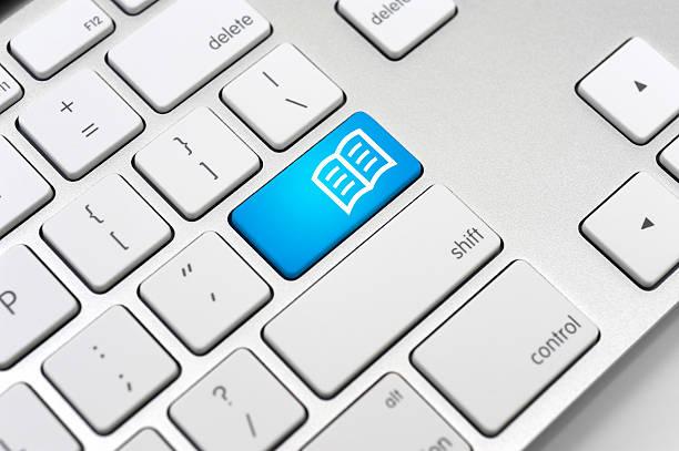 E-book ikonę Klawiatura komputerowa-Learning Concept – zdjęcie