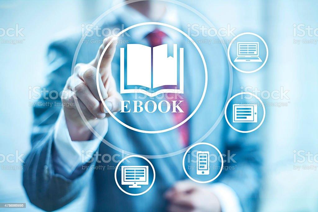Ebook illustrazione - foto stock