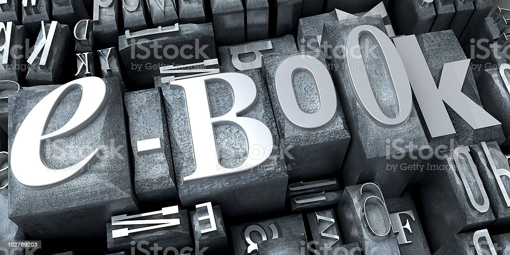 e-book in typescript close-up royalty-free stock photo