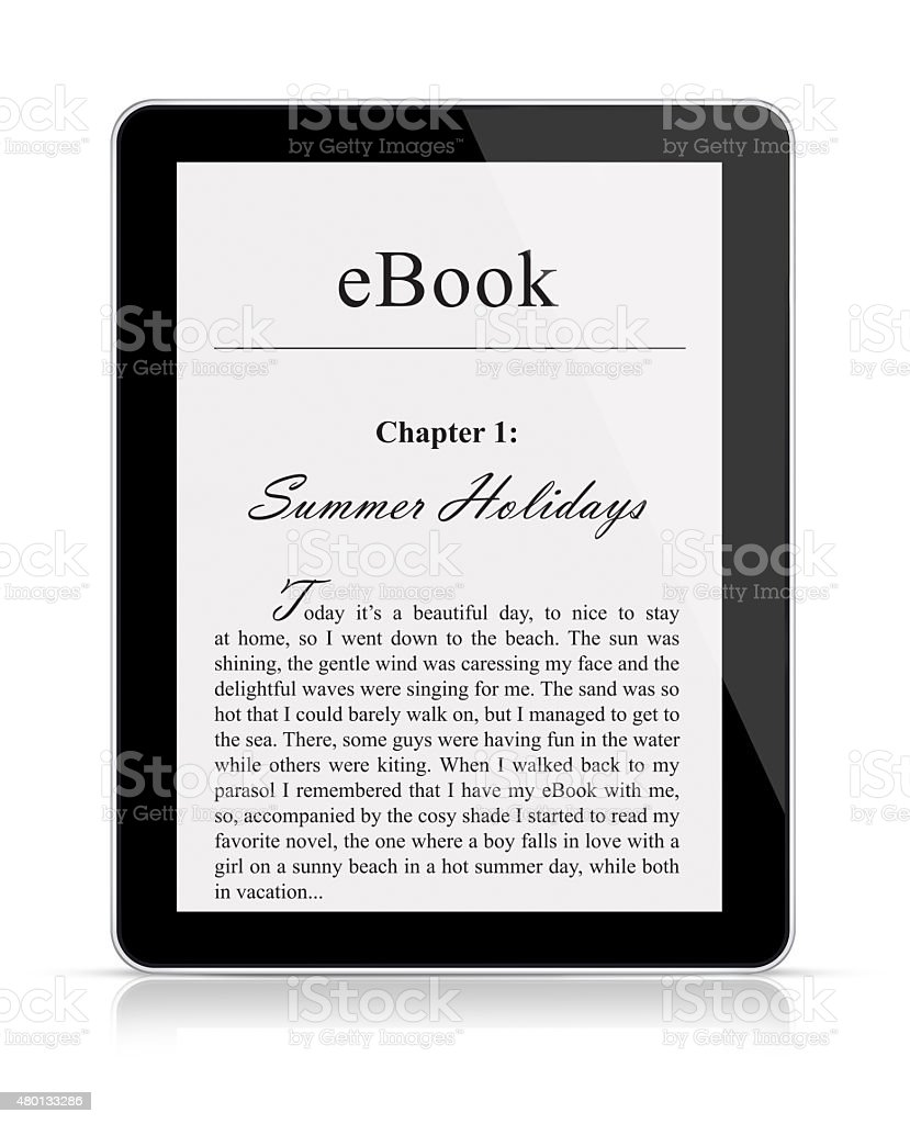 leitor de eBook - Foto de stock de 2015 royalty-free