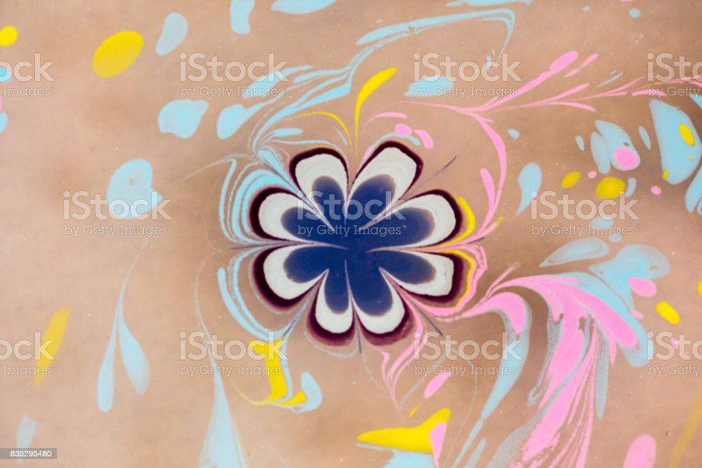 Ebru art stock photo
