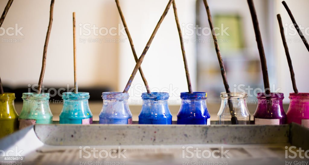 ebru painting stock photo