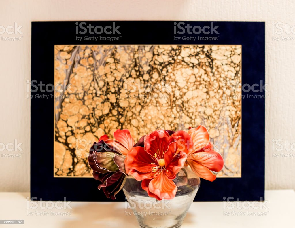 Ebru stock photo