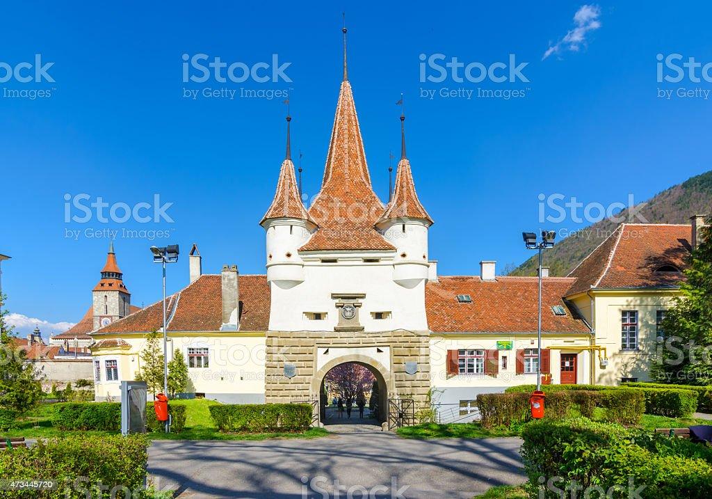 Ecaterina gate in brasov, romania stock photo