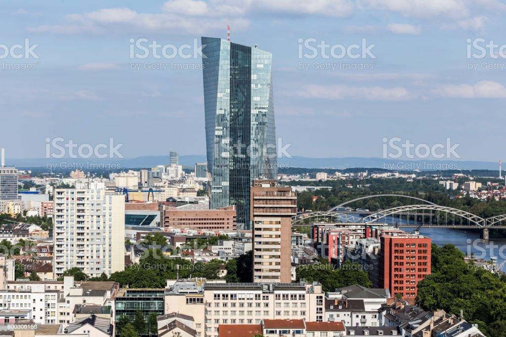 ecb europa bank in frankfurt germany stock photo