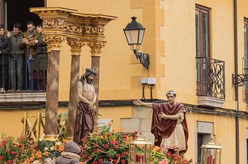 Ecce Homo. Procession Holy Friday. Leon, Spain. Holy Week 2018.