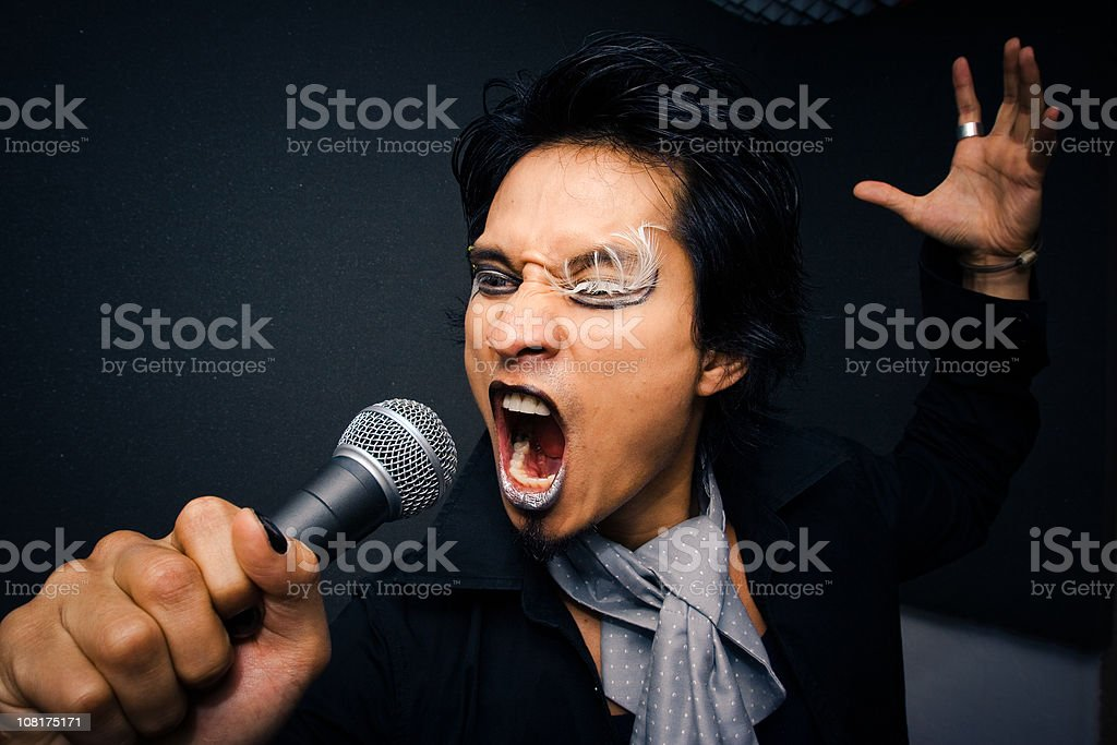 Eccentric Male Singer royalty-free stock photo