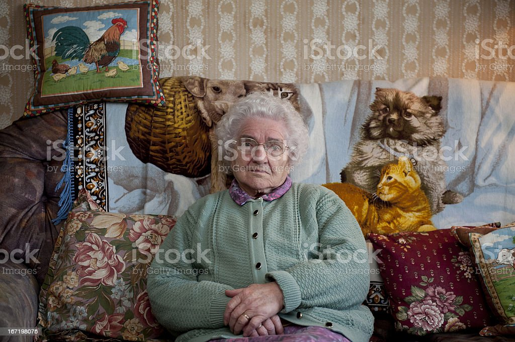 Eccentric old woman royalty-free stock photo