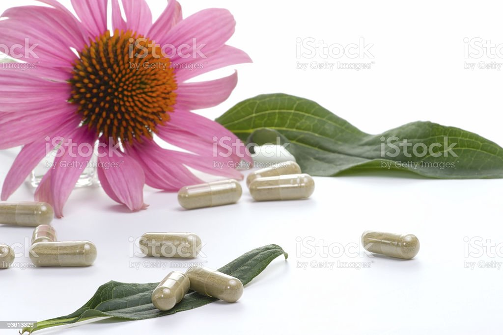 Echinacea capsules royalty-free stock photo