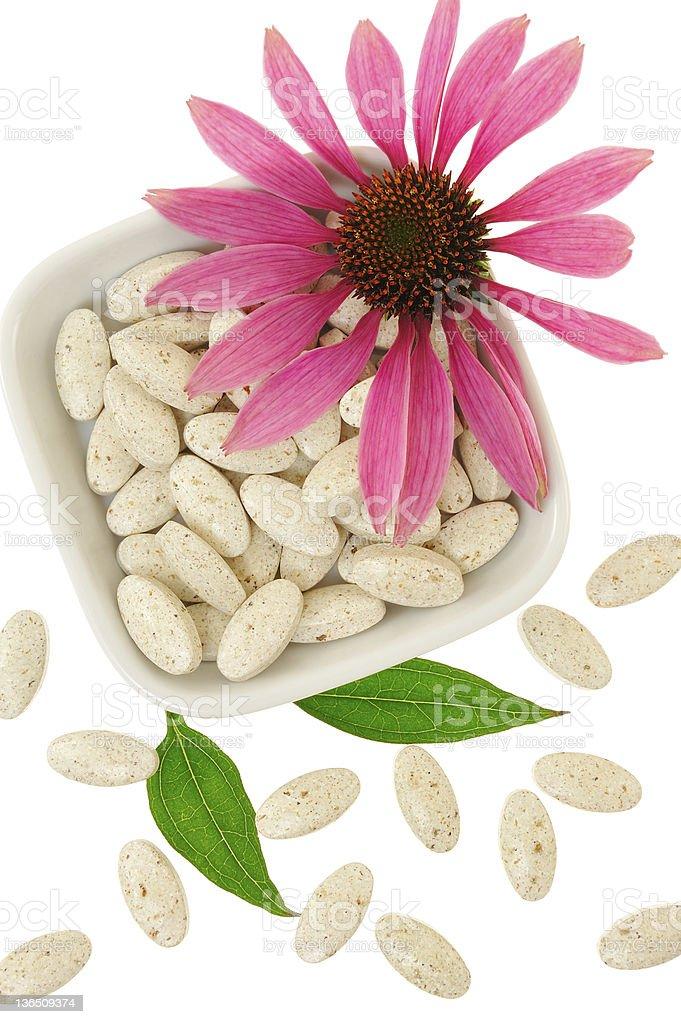 Echinacea purpurea extract pills, alternative medicine concept royalty-free stock photo