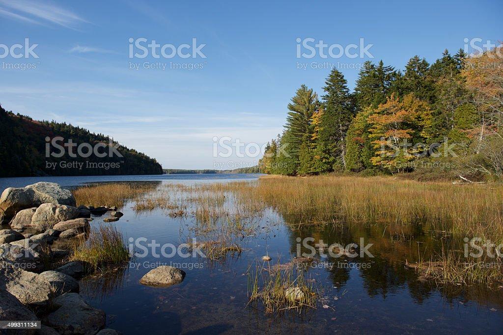 Echo Lake Beach, Mount Desert Island, Maine stock photo