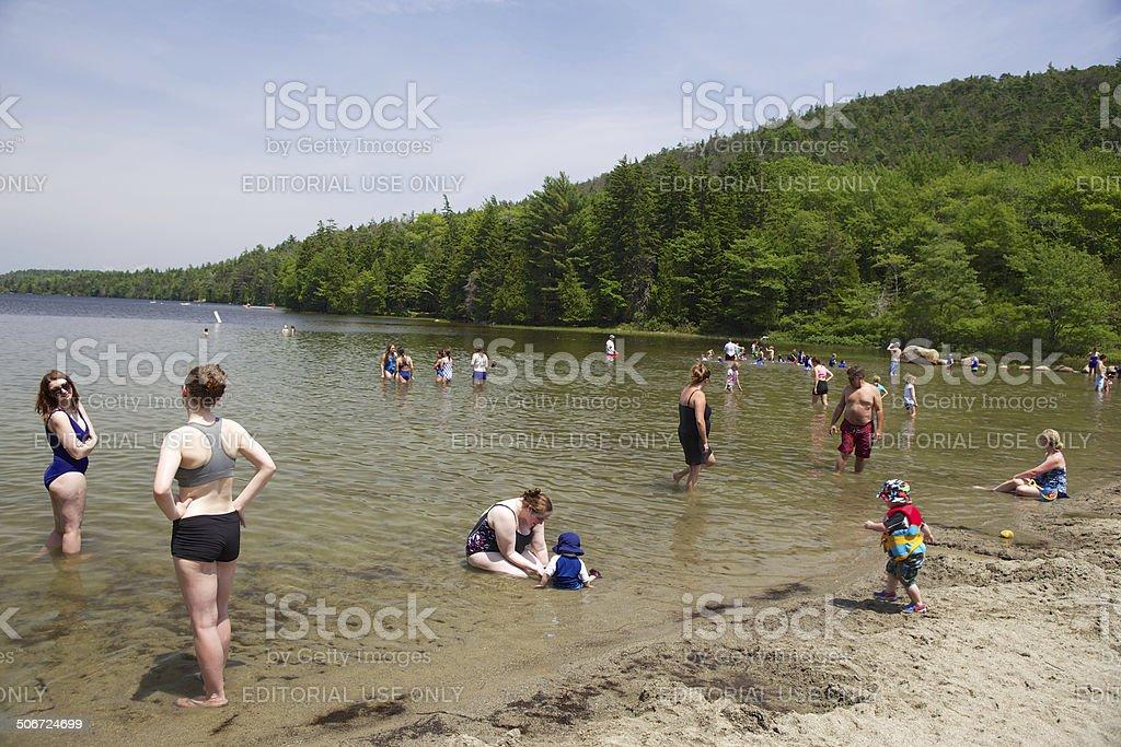 Echo Lake stock photo