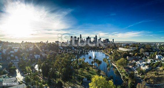 istock Echo Park, Los Angeles - Aerial Panorama 997310582