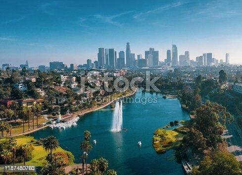landscape shot of Echo Park, Los Angeles