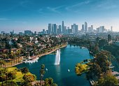 landscape shot of Echo Park, Los Angeles