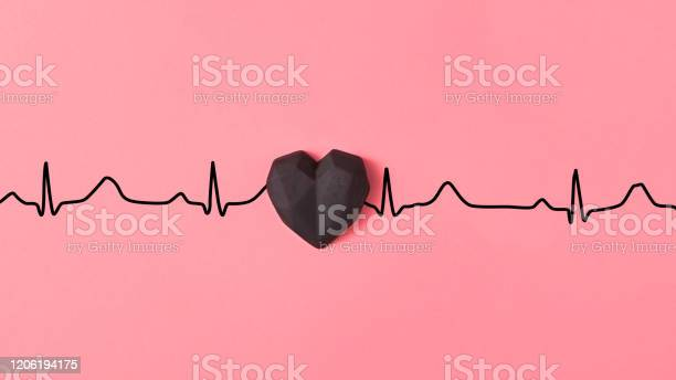 Echocardiogram of love cardiac markers with plastic black heart picture id1206194175?b=1&k=6&m=1206194175&s=612x612&h=tza4puffgh74nxkiqtxq1vvz8kohftzedivlapu6afe=