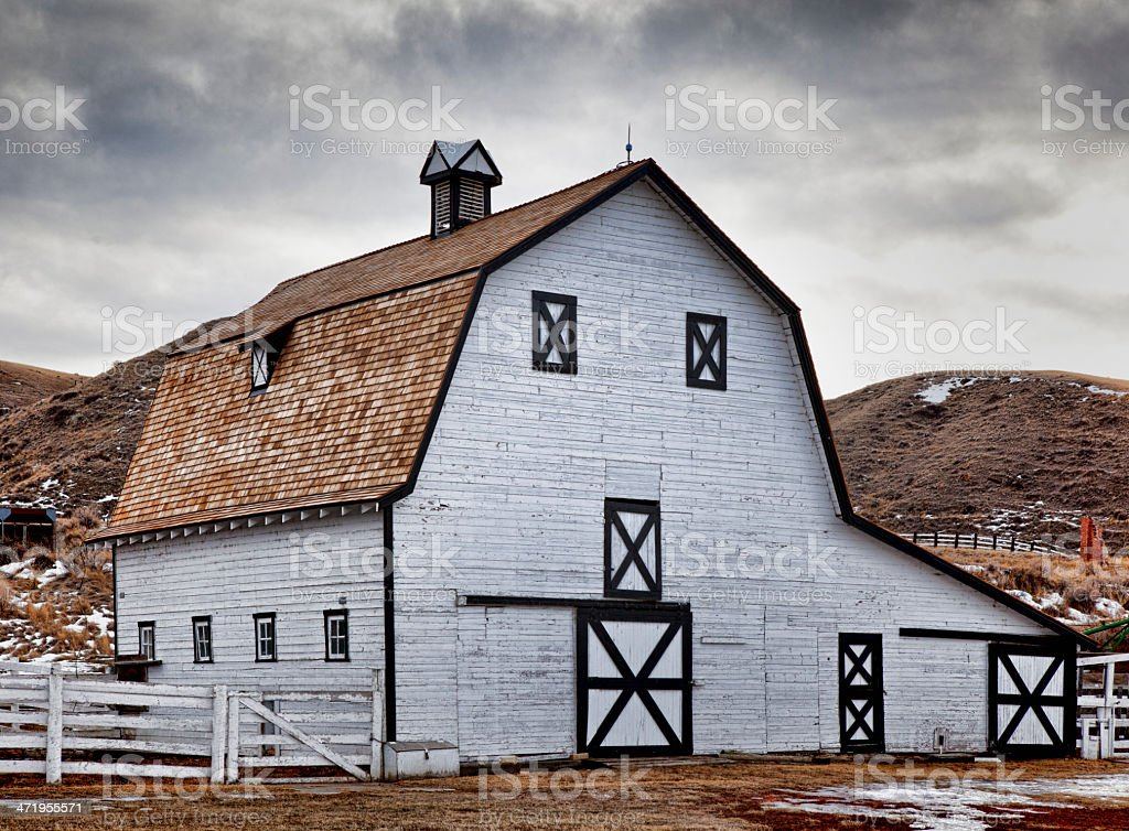 Echodale Barn stock photo