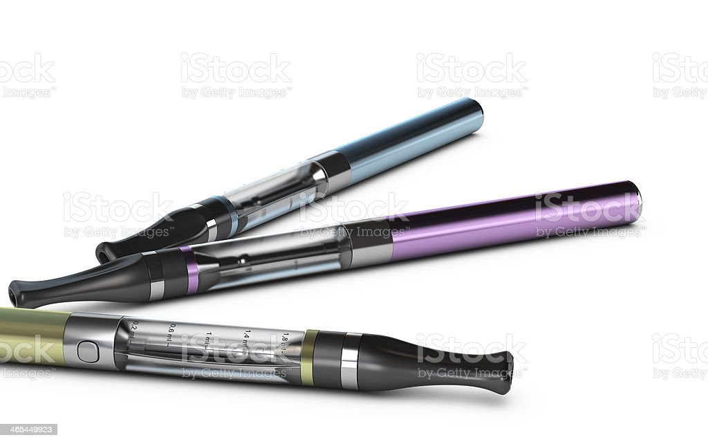 E-cigarettes, E-cig sur fond blanc - Photo