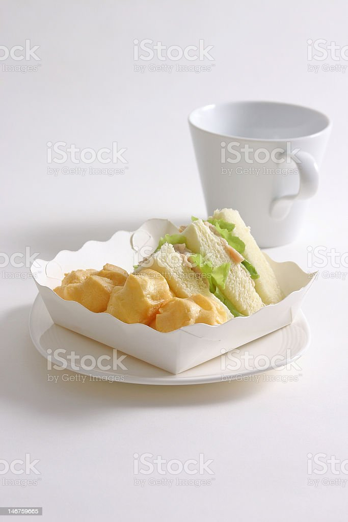 Eclairs And Ham Sandwich royalty-free stock photo