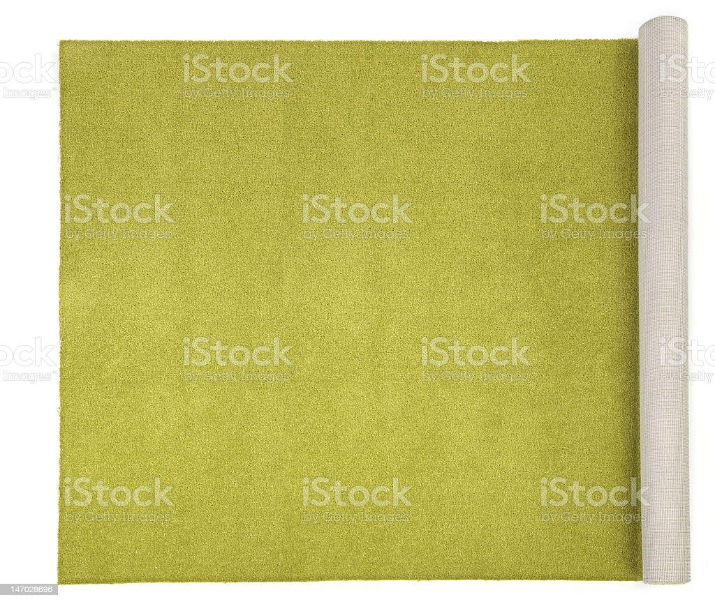 Alfombra de oliva sobre blanco - foto de stock